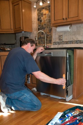 Dishwasher install in Fullerton CA by Picture Perfect Handyman handyman.