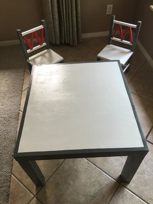 Custom Kid Table and Chairs