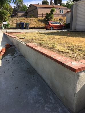 Before, During & After  Stucco Wall and Brick Repair in Canyon Country, CA (2)