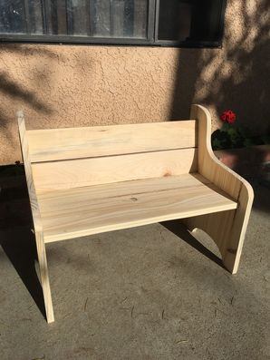 Custom bench handmade, stained and hand painted in Newhall, CA (1)